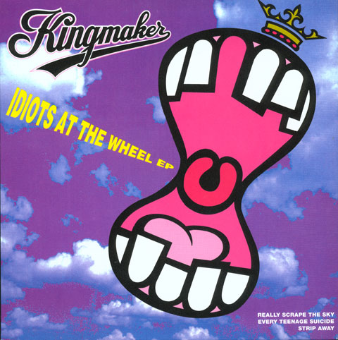 Kingmaker Idiots at the wheel EP 1991 Illustration by Bob Lawrie
