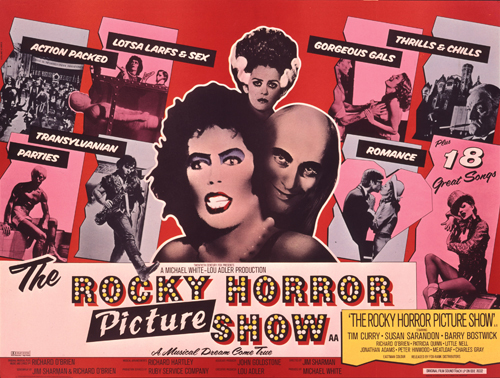 Poster for the cult movie The Rocky Horror Picture Show 1975 by John Pasche