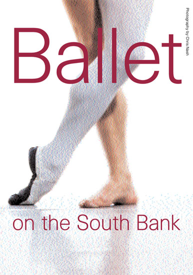A7 leaflet for Ballet on the South Bank 2003 by John Pasche Photography by Chris Nash
