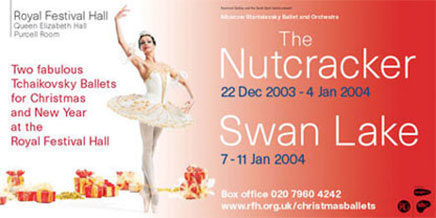 The Nutcracker and Swan Lake poster 2003 by John Pasche Photography by Richard Haughton
