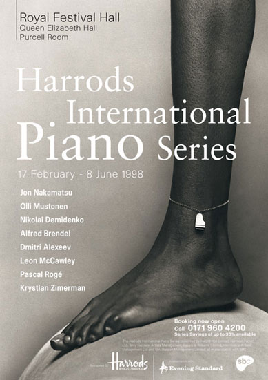 Harrods International Piano Series Royal Festival Hall 1998 by John Pasche Photography by Nadav Kander