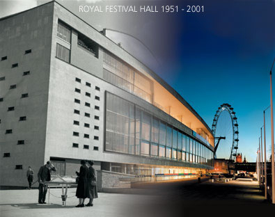 Royal Festival Hall's 50th Anniversary montage 2001 by John Pasche photography by Richard Haughton